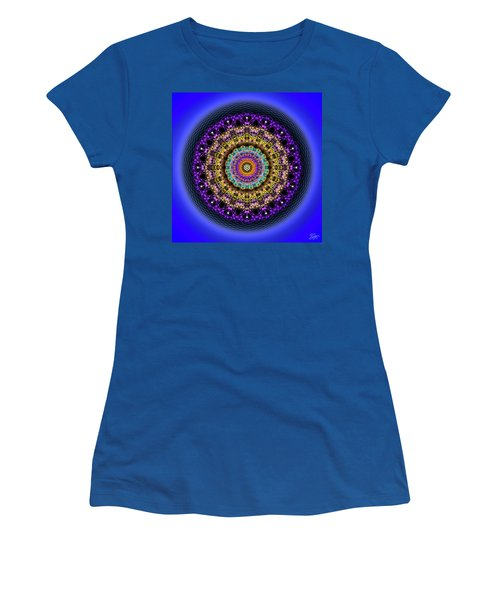 Women's T-Shirt (Athletic Fit) featuring the digital art Sacred Geometry 708 by Endre Balogh