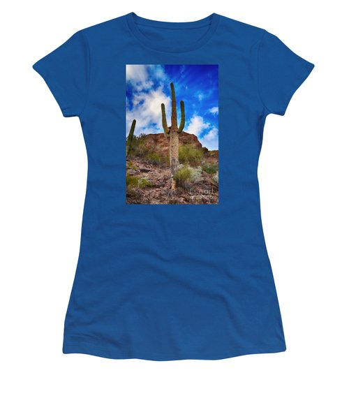 Saguaro Cactus Women's T-Shirt (Junior Cut) by Donna Greene