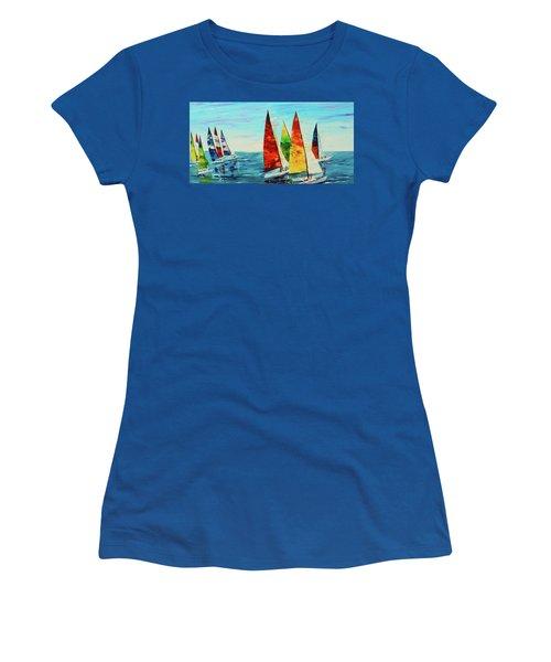 Sailboat Race Women's T-Shirt