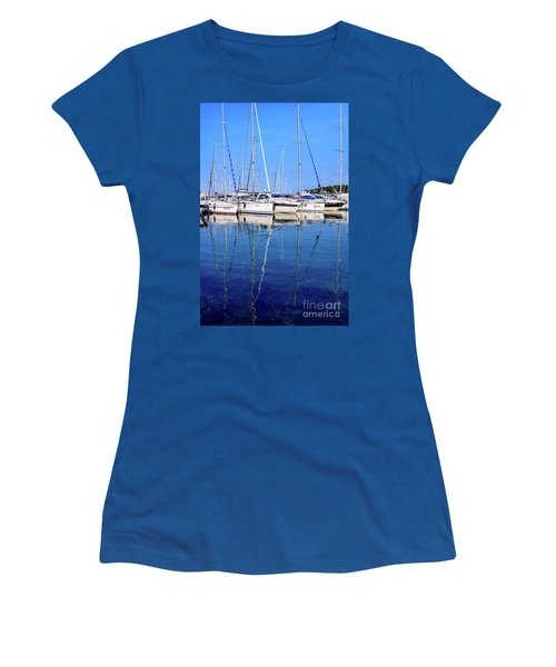 Sailboat Reflections - Rovinj, Croatia  Women's T-Shirt