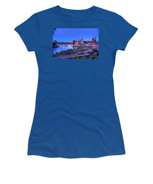 Saint Paul Minnesota Skyline Blue Morning Light Women's T-Shirt