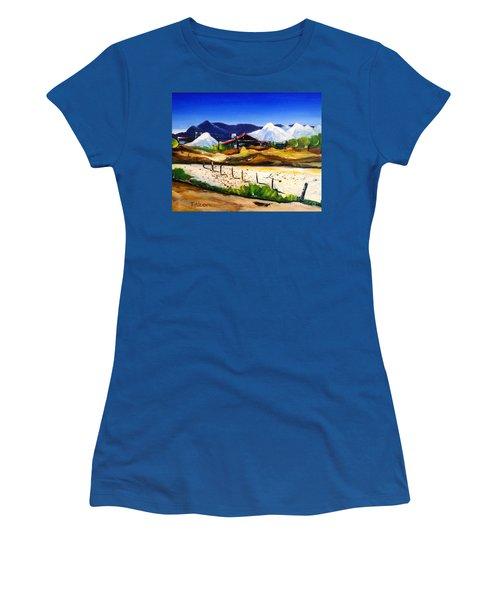 Salt Works - Port Alma Women's T-Shirt (Junior Cut) by Therese Alcorn