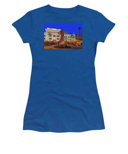 Women's T-Shirt (Junior Cut) featuring the photograph San Buenaventura City Hall by Susan Candelario