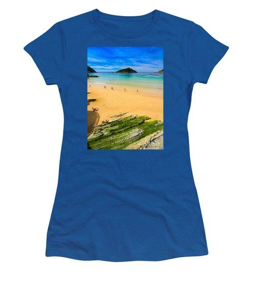 San Sebastian Summer Women's T-Shirt (Junior Cut) by Mariusz Czajkowski