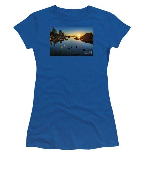Sand Harbor Sunset Women's T-Shirt
