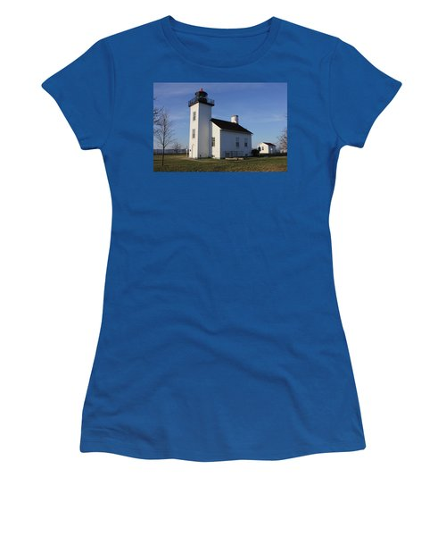 Sand Point Lighthouse In Escanaba Women's T-Shirt