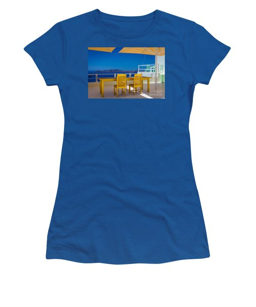 Santorini Patio Women's T-Shirt