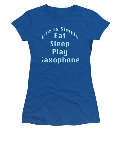 Saxophone Eat Sleep Play Saxophone 5515.02 Women's T-Shirt (Athletic Fit)