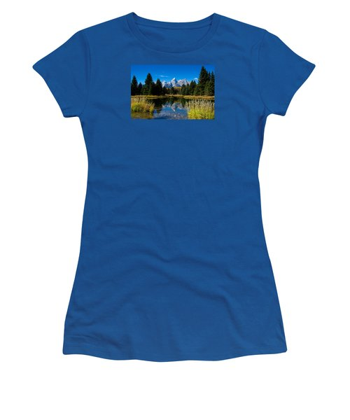 Schwabacher Landing Reflection Women's T-Shirt (Athletic Fit)