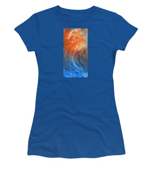 Women's T-Shirt (Junior Cut) featuring the painting Sea Of Passion by Jane See
