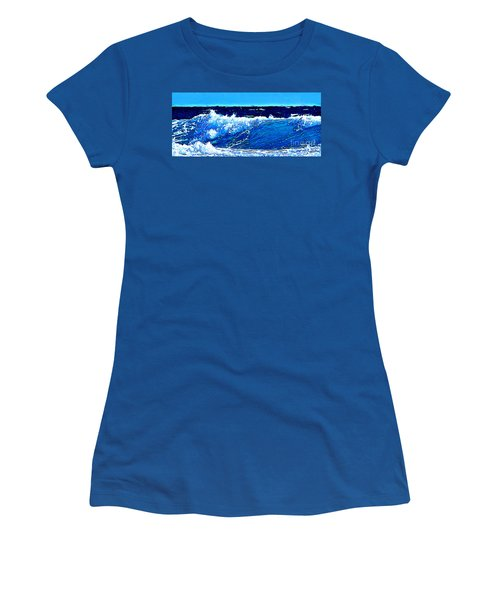 Women's T-Shirt (Junior Cut) featuring the digital art Sea by Zedi