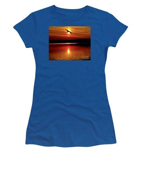 Seagull Homeward Bound Women's T-Shirt (Junior Cut) by Carol F Austin