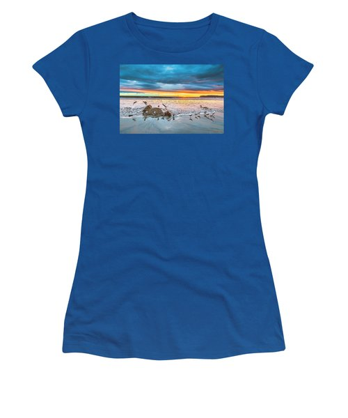 Seagull Sunset Women's T-Shirt (Athletic Fit)