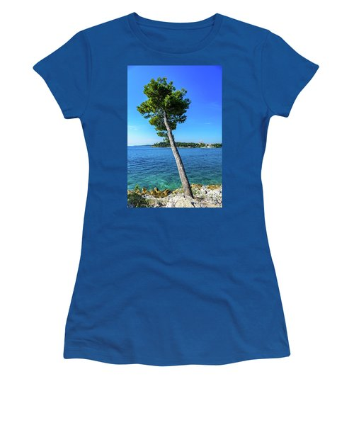 Seaside Leaning Tree In Rovinj, Croatia Women's T-Shirt