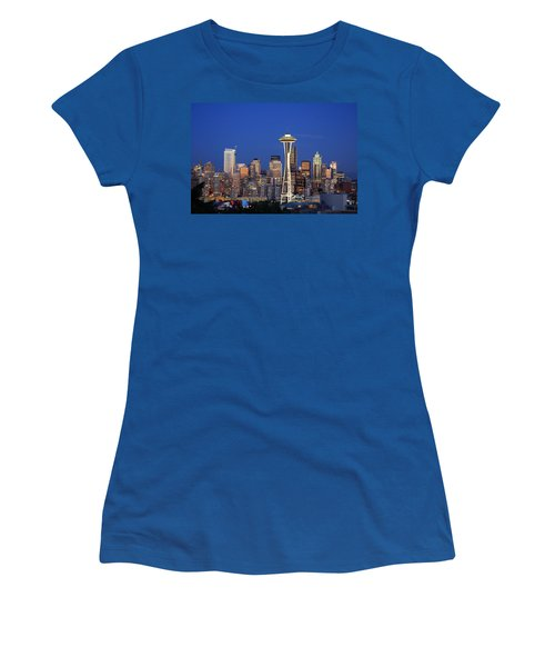 Seattle At Dusk Women's T-Shirt (Athletic Fit)