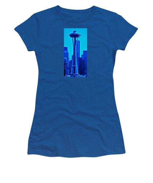 Seattle Blue Women's T-Shirt (Junior Cut) by Martin Cline