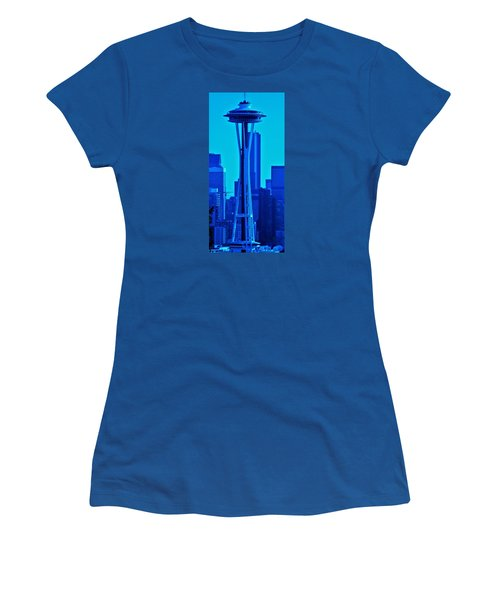Seattle Blue Women's T-Shirt (Athletic Fit)