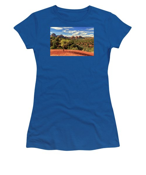 Women's T-Shirt (Junior Cut) featuring the photograph Sedona Afternoon by James Eddy