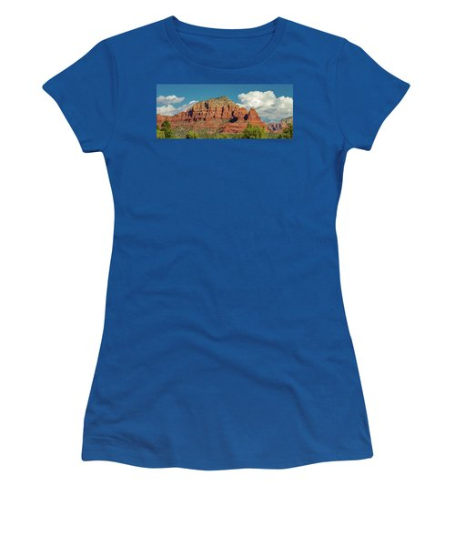 Women's T-Shirt (Junior Cut) featuring the photograph Sedona, Rocks And Clouds by Bill Gallagher