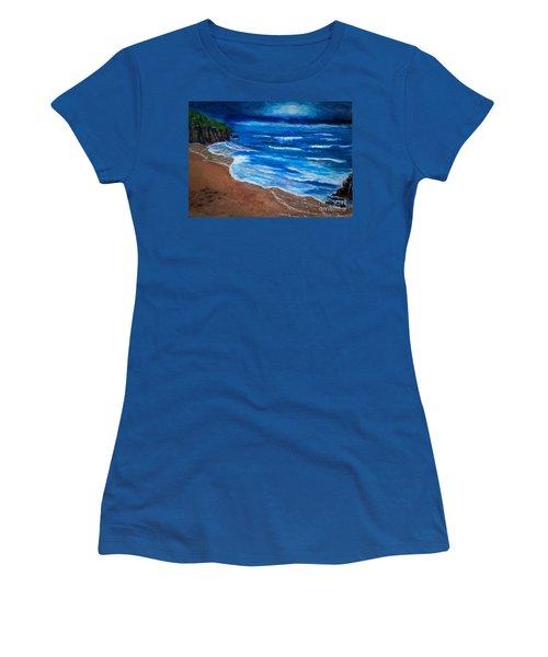 Serene Seashore Women's T-Shirt