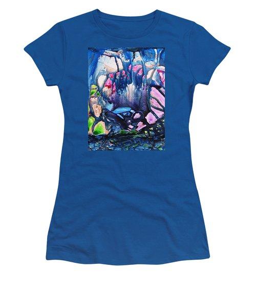 Shades Of Tiffany Women's T-Shirt (Junior Cut) by Joan Hartenstein