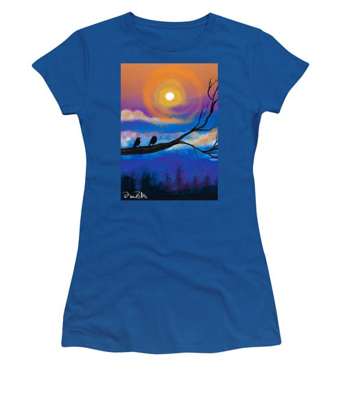 Sharing The Sunset-2 Women's T-Shirt (Athletic Fit)