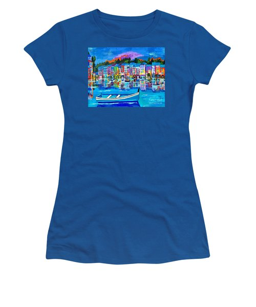 Shores Of Italy Women's T-Shirt (Junior Cut) by Scott D Van Osdol