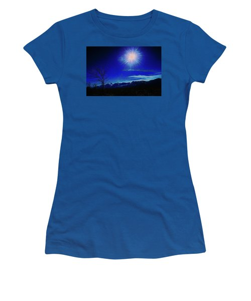 Women's T-Shirt featuring the digital art Sierra Night by Richard Ricci