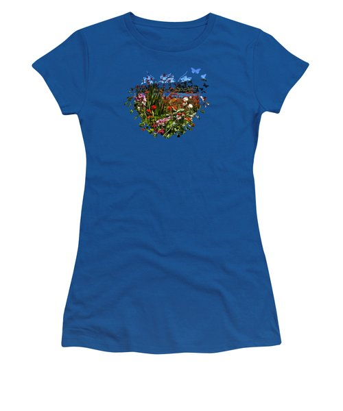 Siuslaw River Floral Women's T-Shirt (Athletic Fit)