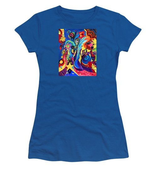 Guardian Angel Women's T-Shirt (Junior Cut) by Marina Petro