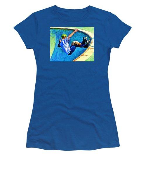 Skateboarding In The Bowl Women's T-Shirt