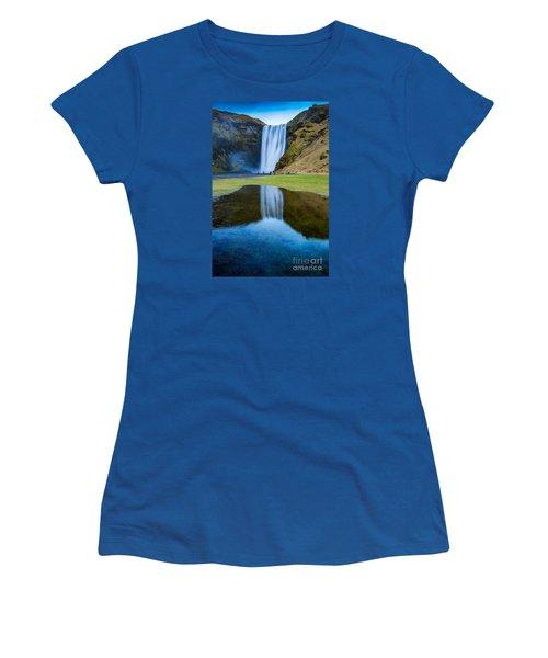Skogafoss 2 Women's T-Shirt (Junior Cut) by Mariusz Czajkowski