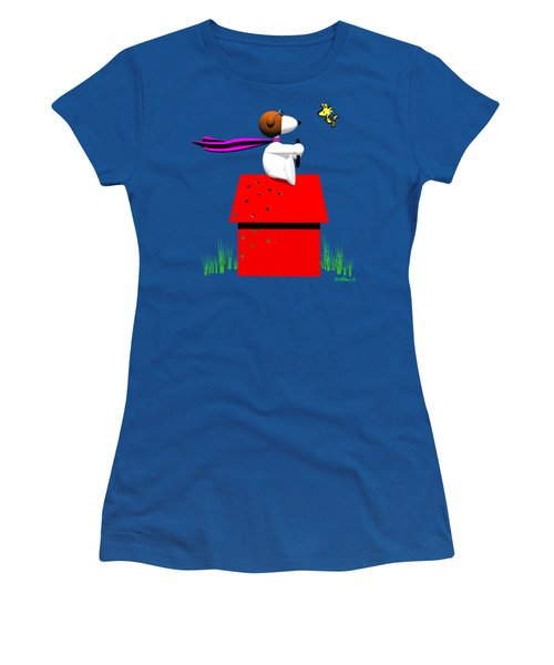 Snoopy Evades The Red Baron Women's T-Shirt