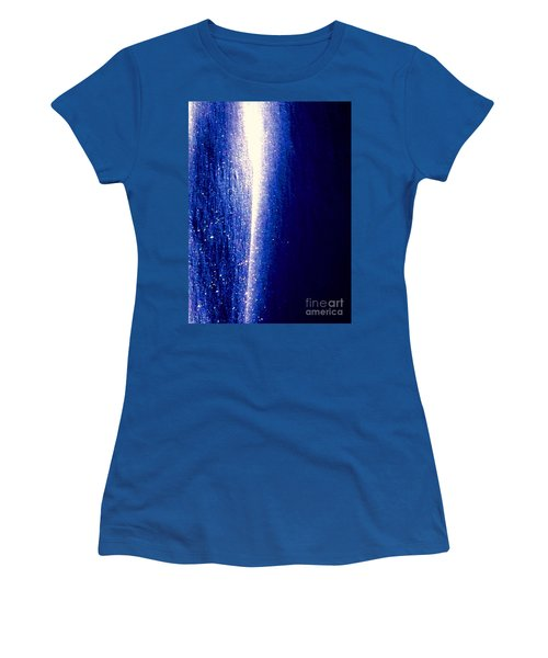 Snow Lightning Women's T-Shirt (Junior Cut) by Jennifer Lake