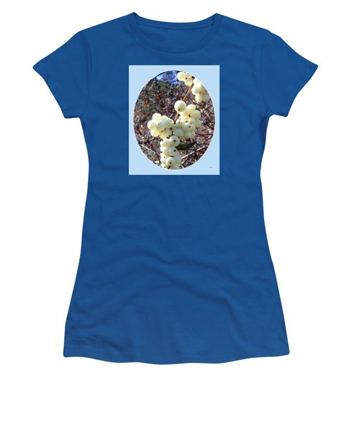 Women's T-Shirt (Junior Cut) featuring the photograph Snowberry Cluster by Will Borden