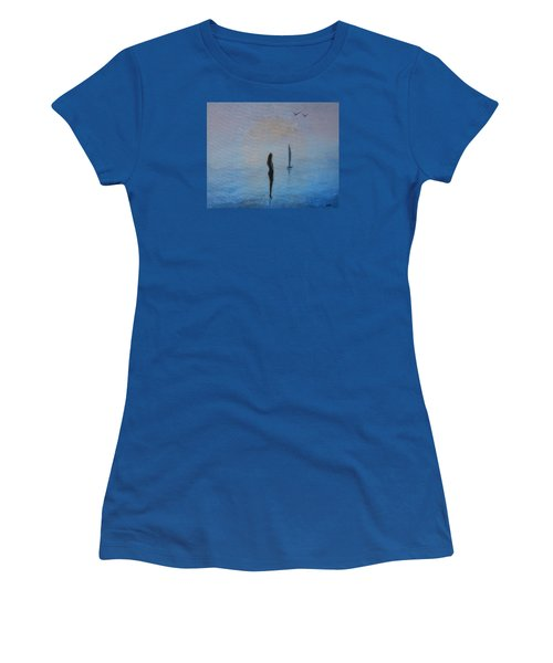 Women's T-Shirt (Junior Cut) featuring the painting So Close by Jane See