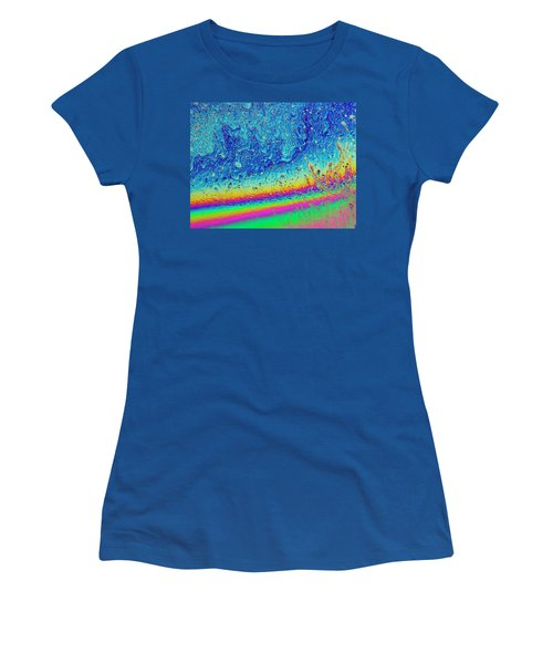 Women's T-Shirt (Athletic Fit) featuring the photograph Soap Night Sky In Soap by Jean Noren