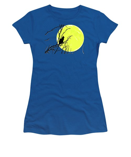 Solitary With Golden Moon Women's T-Shirt (Athletic Fit)