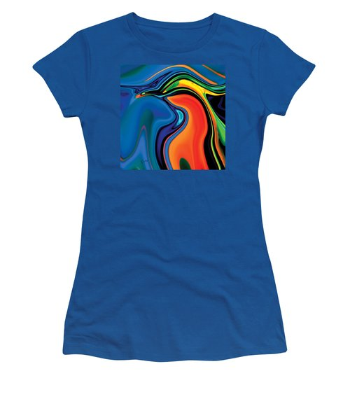Women's T-Shirt (Junior Cut) featuring the digital art Soul Bird 2 by Rabi Khan