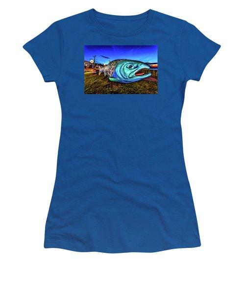 Soul Salmon During Blue Hour Women's T-Shirt (Junior Cut) by Rob Green