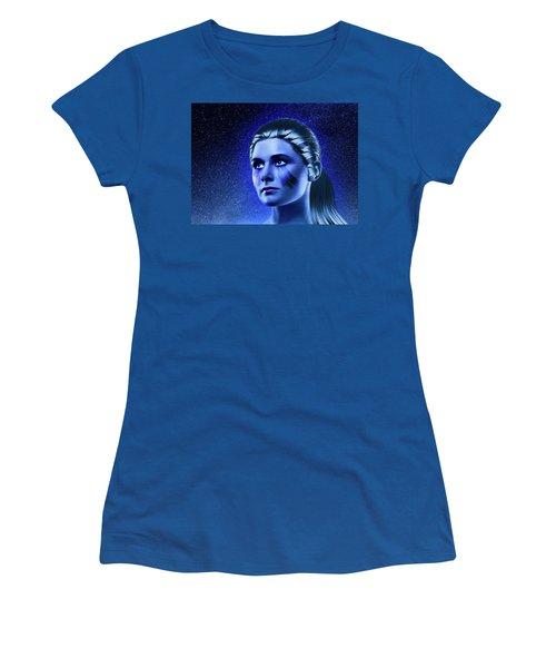 Space Odyssey Women's T-Shirt (Junior Cut) by Scott Meyer