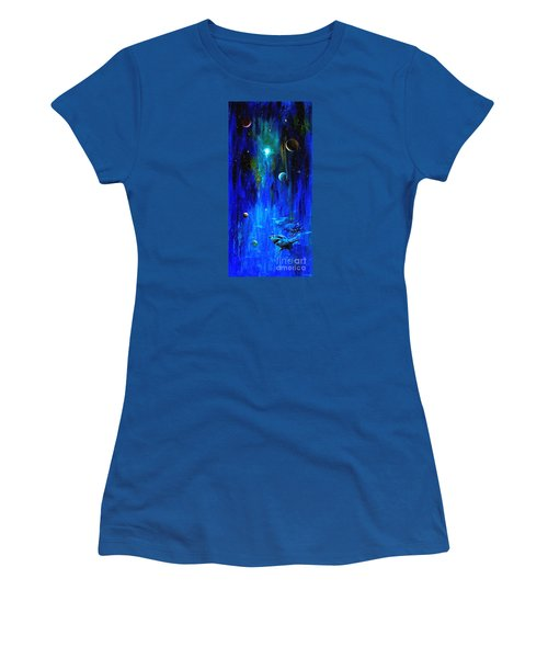 Space Shark Women's T-Shirt (Athletic Fit)