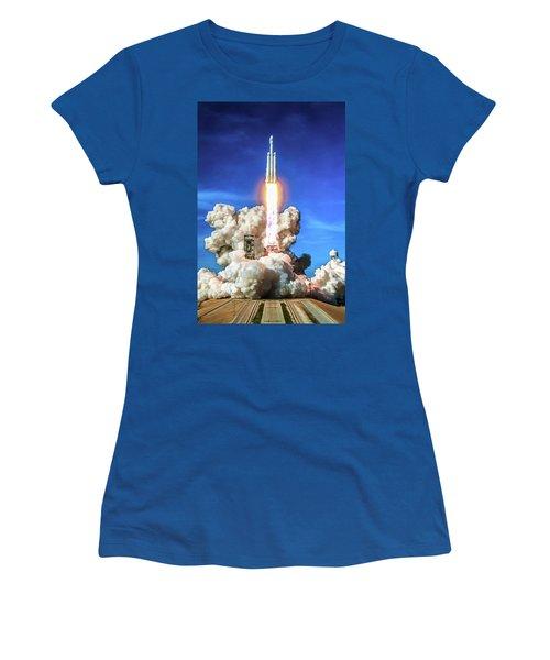 Spacex Falcon Heavy Rocket Launch Women's T-Shirt