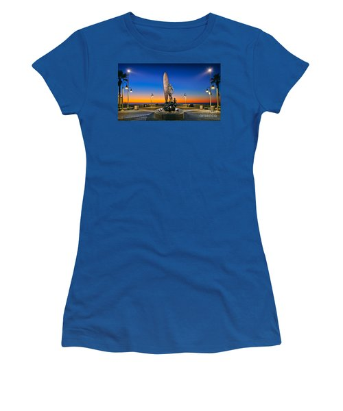 Spirit Of Imperial Beach Surfer Sculpture Women's T-Shirt
