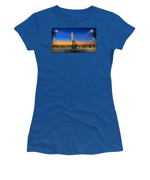 Spirit Of Imperial Beach Surfer Sculpture Women's T-Shirt