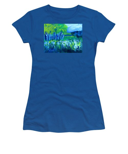 Women's T-Shirt (Junior Cut) featuring the painting Spring Coming by Betty Pieper