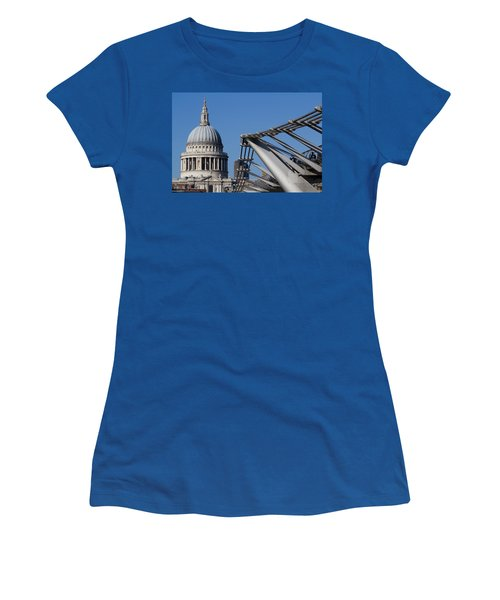 St Pauls Cathedral And The Millenium Bridge  Women's T-Shirt