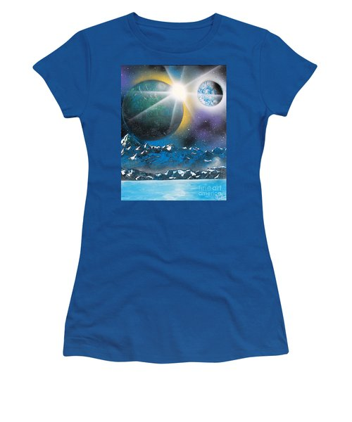 Star Burst Women's T-Shirt (Athletic Fit)