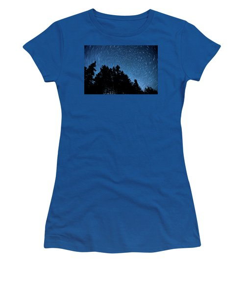 Star Trails In Acadia Women's T-Shirt