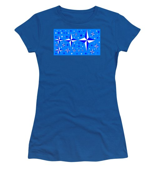 Starlight 9 Women's T-Shirt (Junior Cut) by Linda Velasquez